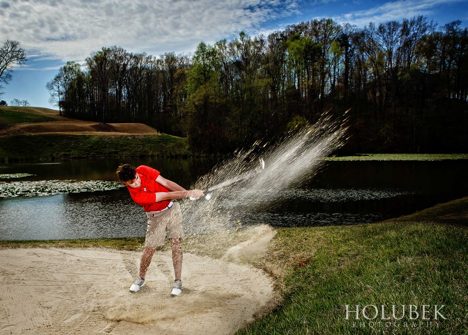 Senior Pictures in Boiling Springs, SC at Woodfin Ridge Golf